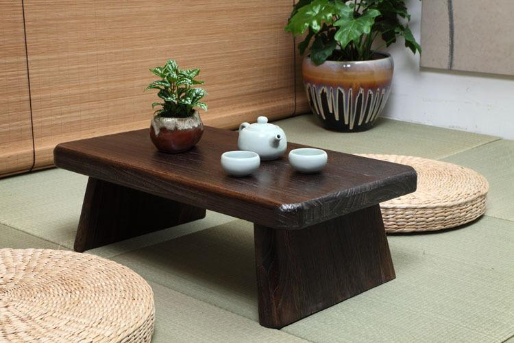 $205.11  Japanese Antique Tea Table Rectangle 60*35Cm Paulownia Wood  Traditional Asian Furniture Living