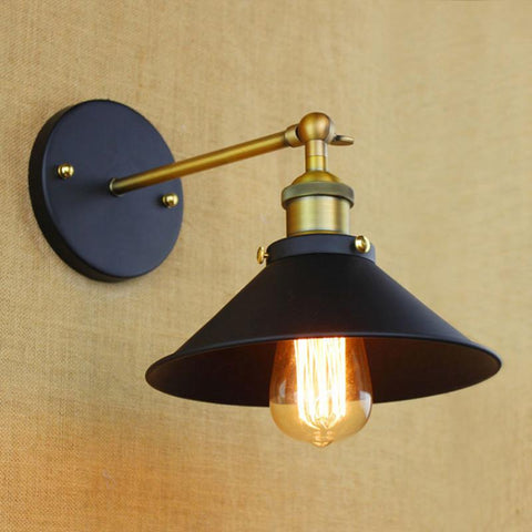 $26.39- Mini Small Wall Lamps Vintage Black Rustic Wall Sconce Lights Retro Loft Industrial Wall Lamp Lamparas De Pared