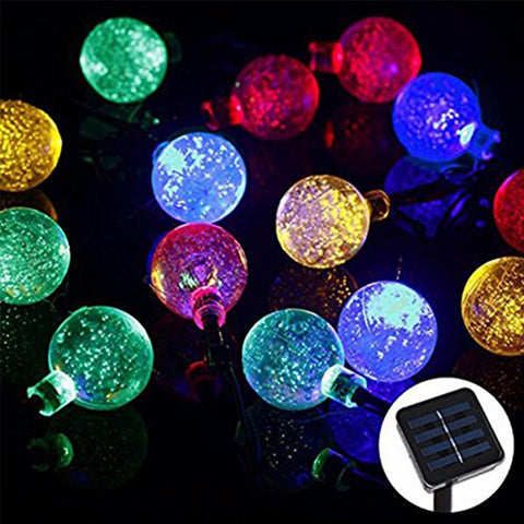 $25.18- 4.8M 20Leds Crystal Ball String Waterproof Outdoor Solar Sun Led String Holiday String Fairy Light Garden Decoration Solar Sun Lamp