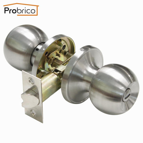 $30.06- Probrico Stainless Steel Safe Lock Satin Nickel Security Door Lock Dl607Snbk Door Handles Privacy Door Keyless Lock Knobs