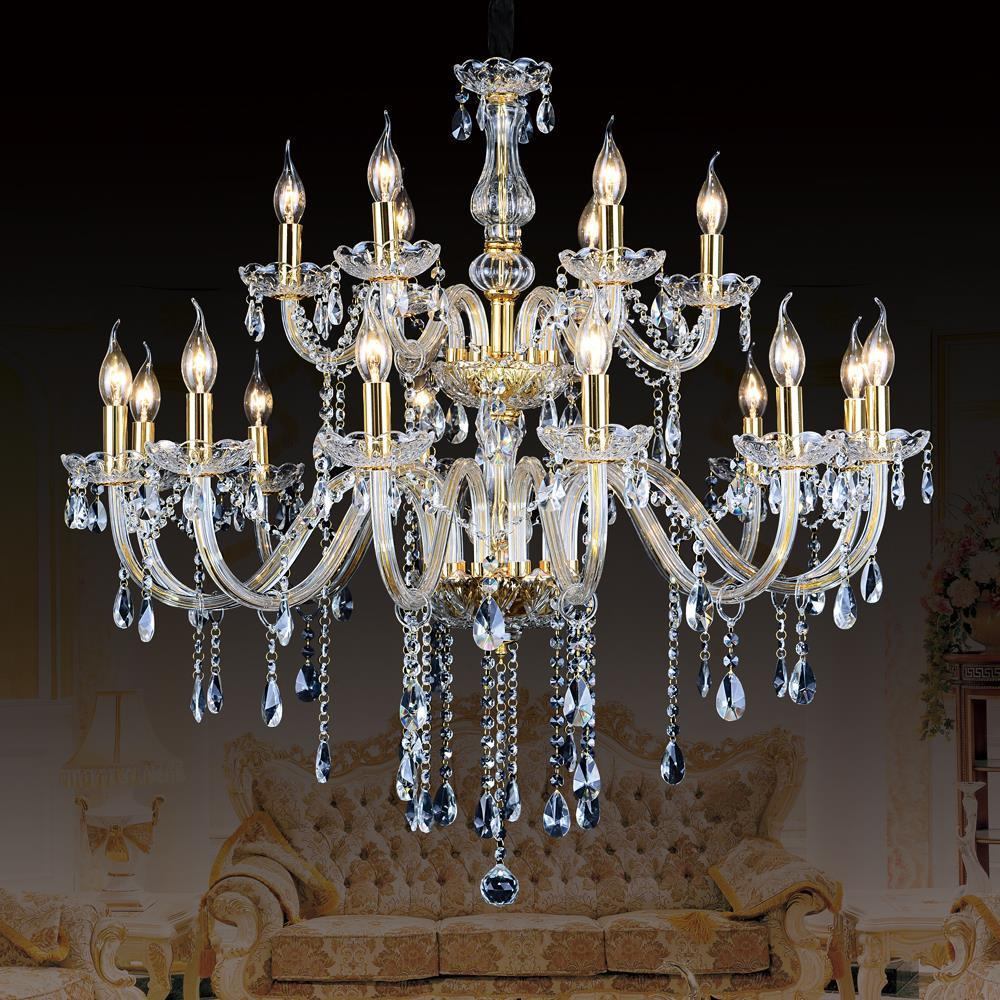 $896.00- Luxury Royal Empire Golden Europen Crystal Chandelier Large Contemporary Lighting French Style Hotel Lobby Design Lighting