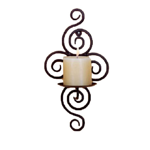 $12.54- Hot ing Iron Candle Holder Sconce Hanging Wall Art Candlestick For Decoration Weddings