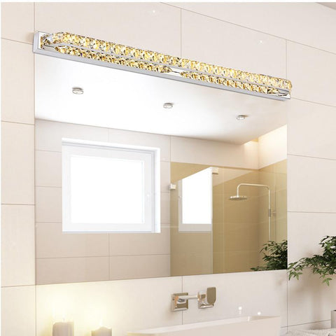 Modern LED Crystal Bathroom Mirror Sconces Light 23W Over Mirror Front Lights Lamp Bath Wall 87cm Super Long 110V / 220V AC