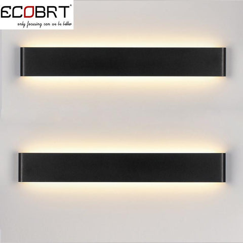 $88.72- Modern 14W 41Cm Long Aluminum Black / White Led Sconce Indoor Wall Lamps In Bedroom As Decoration Lighting Fixtures 100240V Ac