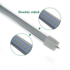 $574.00- 5Ft Led Tubes Double Sides T8 1.5M Tube Lights High Bright Cool White Led Fluorescent Tube Ac85265V