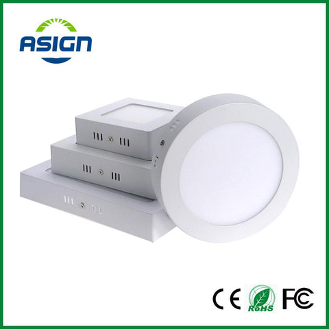 Surface Mounted Led Panel Downlight 6w 12w 18w Round/Square LED Ceiling Lamp AC85-265V LED Panel Light SMD2835 CE ROHS UL