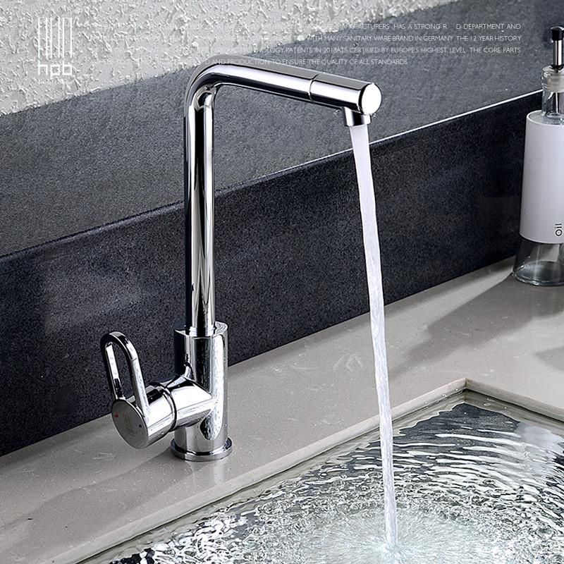Han School All Copper Lead Hot Cold Kitchen Faucet Faucet Washing