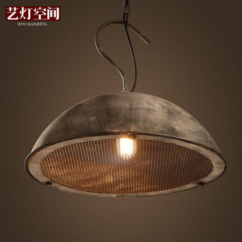 Hot Sale Vintage Steel Bulb Guard Clamp On Metal Lamp Cage Retro Trouble Light Industrial