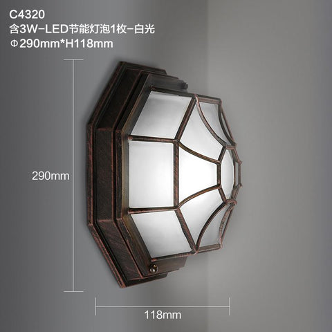 $227.12- Continental Retro Industrial Wind Corridor Balcony Aisle Wall Lamp Loft Tuinhotel American Antique Art Aluminum Lamp