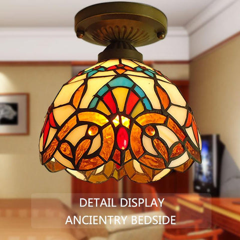 style of the ancient Mediterranean small ceiling lamps, aisle lights lamp lamp Tiffany lamp inside the American village