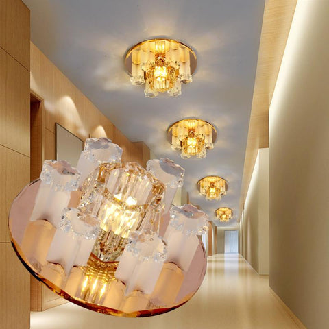 The new LED crystal lamp super bright lights aisle porch lamp ceiling lamp lighting lamp NIUYAN hall corridor