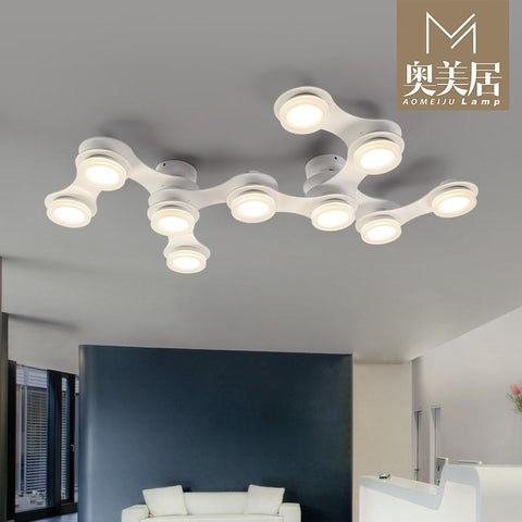type lighting lamp iron simple modern personality study lamp light in the bedroom living room lamps ceiling lamps