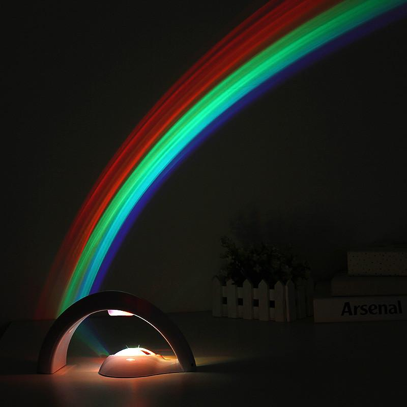 $35.16- Led Rainbow Projector Lamps Romantic Starry Sky Projection Lamp Creative Led Night Lights Romance Atmosphere Lamp