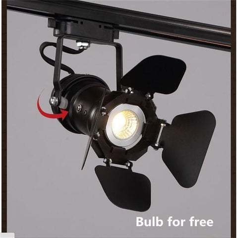 $85.54- Retro Arts Track Spotlights Lamp Minimalist Led Rail Spot Lighting Clothing Store Loft Rh Rural Industrial Lift Ceiling Lamps 5W