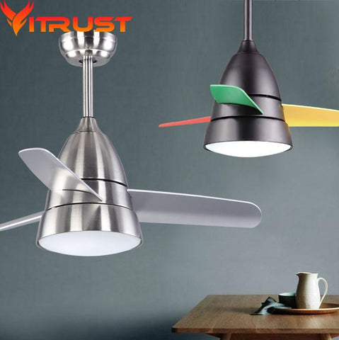 $334.62- Modern Quiet Ceiling Fans Bedroom Decorative Ceiling Fan Ventilador De Techo Lamparas De Techo Colgante Iron Ceiling Fan