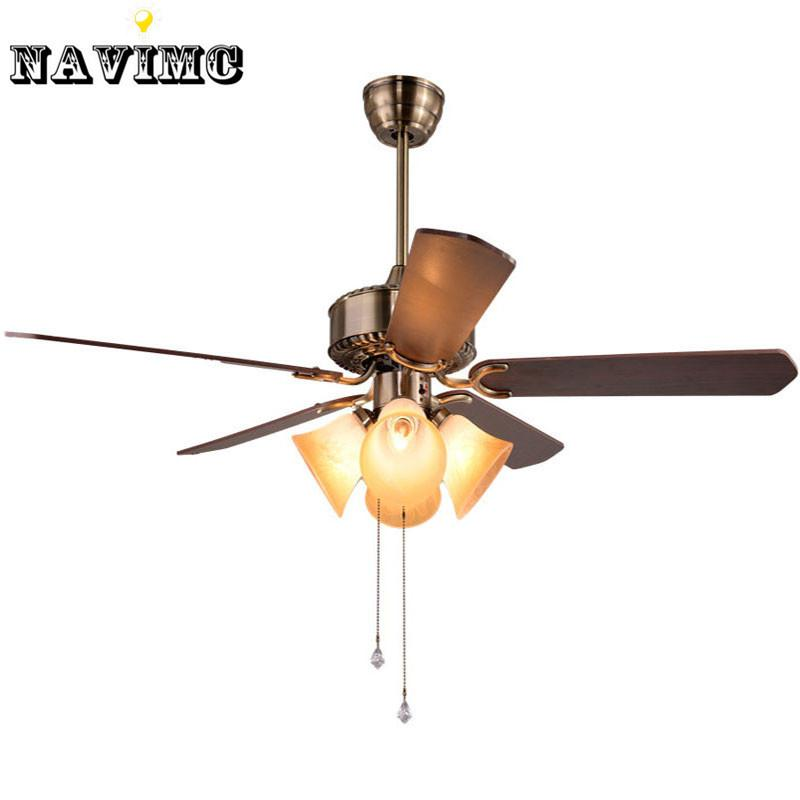 $310.70- Creative Ceiling Fan W/ Light Kits For Restaurant Hotel Dining Living Room Pendant Lamp 5 Blades Foyer Home Decoration Fans