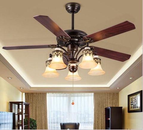 $554.32- Modern Nordic Dining Room Ceiling Fan Ac 220V Home Decoration Fan Restaurant Fan