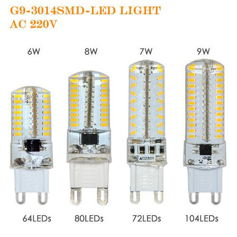 $2.72- G9 Led Dimmable Bulb Lamp Smd 3014 6W 7W 8W 9W Ac220V 230V Crystal Light Replace 30W 70W Halogen Lamp Lustres Lighting