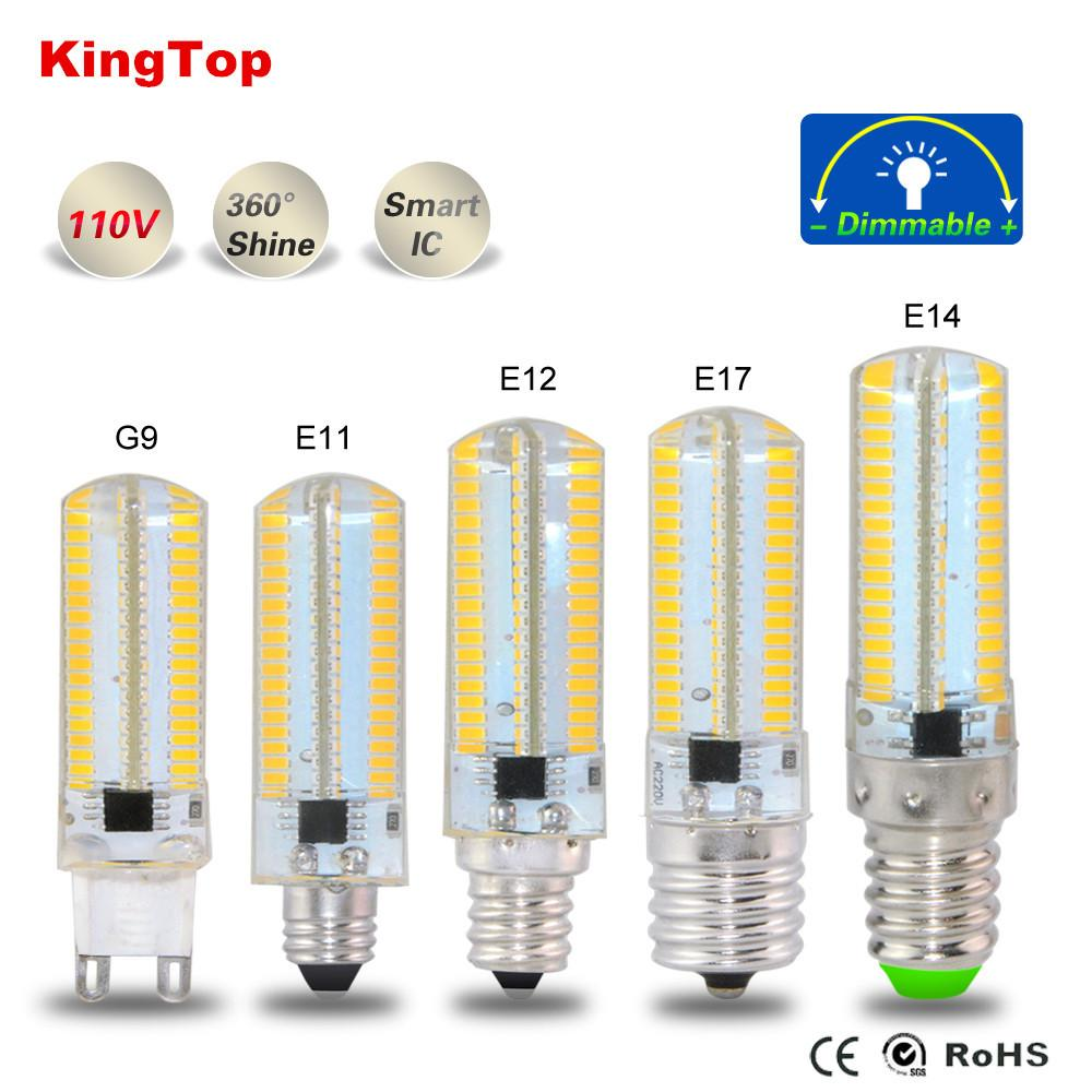 $6.56- E11 E12 E14 E17 G9 Smd4014 Led Bulb Light 152Leds Silicone Body Lamp Ac110V 127V For Chandelier Candle Christmas Lighting 1Pcs