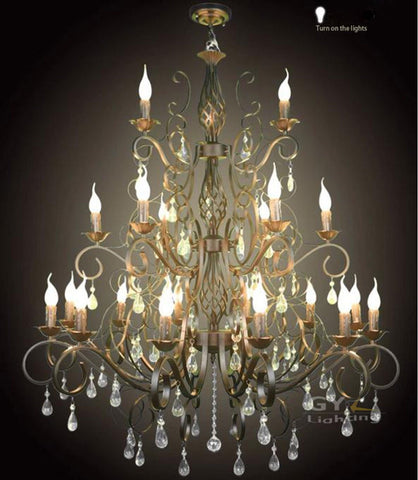 pendant wrought iron chandeliers 2017 luxury black crystal chandelier living room lamp lustres de