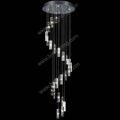$782.28- Chandelier Led Modern Living Room Lamps Crystal Chandelier Led Lamp Stairway Lighting Long Crystal Spiral Chandeliers Light Home