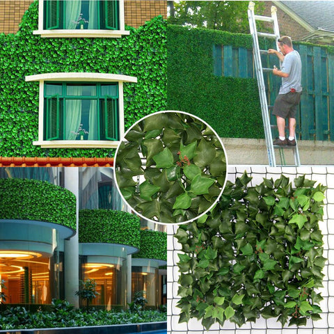 Hedge, grass, and greenery coverings are a great way to beautify