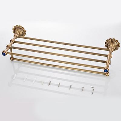 $37.91- Luxury Sapphire Antique Copper Bathroom Accessories Set Robe HookPaper HolderSoap BasketTowel RackToilet Brush Holder