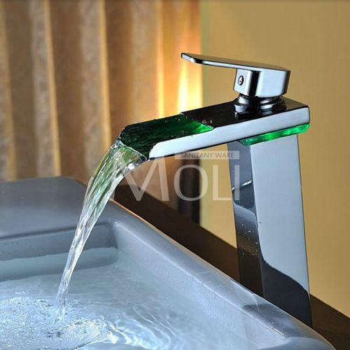 $140.76- Tall Square Waterfall Black Bathroom Faucet Solid Brass OilRubbed Bronze Vessel Sink Faucets Single Lever Tap