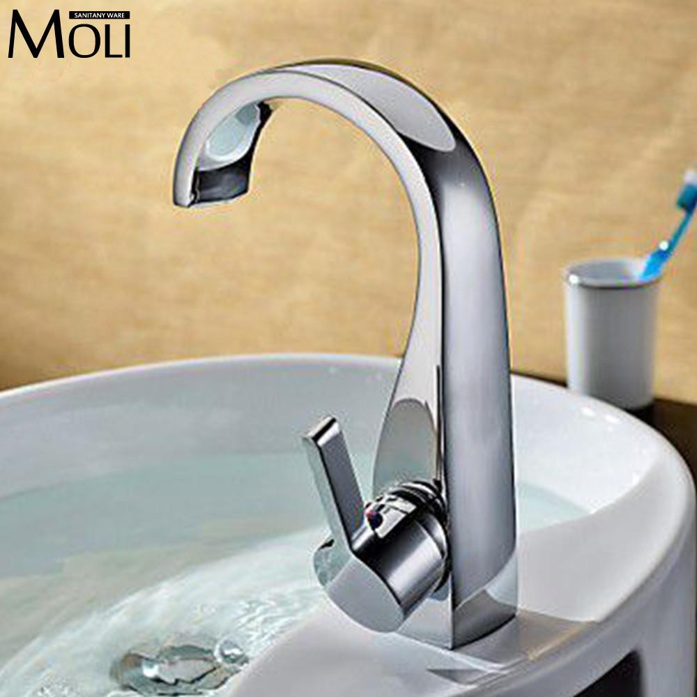 $83.79- Vessel Sink Faucet Bathroom Faucet Basin Mixer Tap Chromed Brass For Basin Of Bathroom