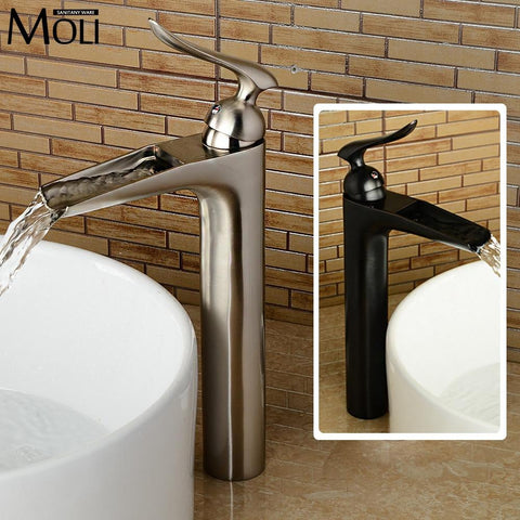 1 set Bathroom Rainfall Shower Faucet Set Mixer Tap With Hand Sprayer Wall Mounted chrome F2416