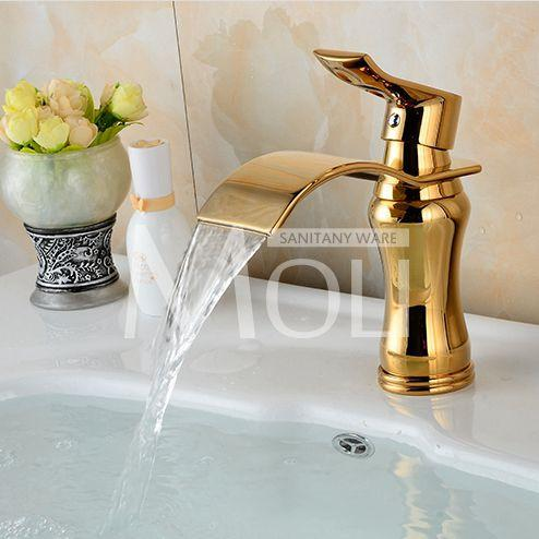 $89.59- Arrival Bathroom White Faucet Deck Mounted Cold Hot Water Tap Solid Brass White Painted Sink Faucets Mixer