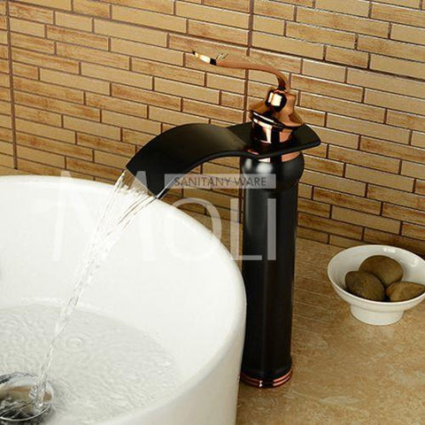$121.21- Arrival Black Bathroom Sink Faucet Solid Brass OilRubbed Bronze Washbasin Tap Mixer Torneira Para Banheiro