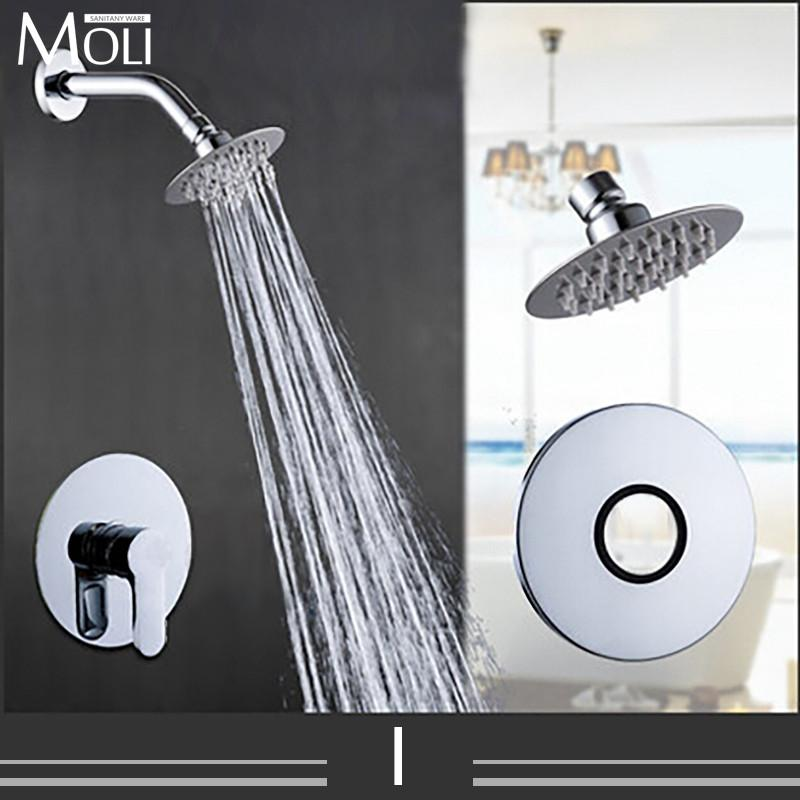 $72.04- In Wall Shower Faucet Rain Shower Set Single Handle