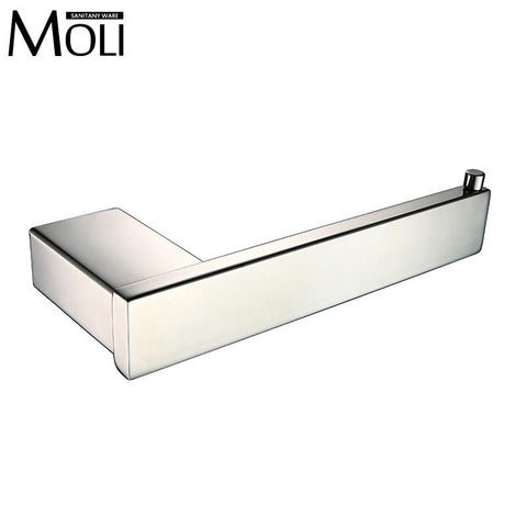 $58.27- Mirror Polished Stainless Steel Toilet Paper Holder Wall Mounted Square Toilet Roll Holder Bathroom Accessories