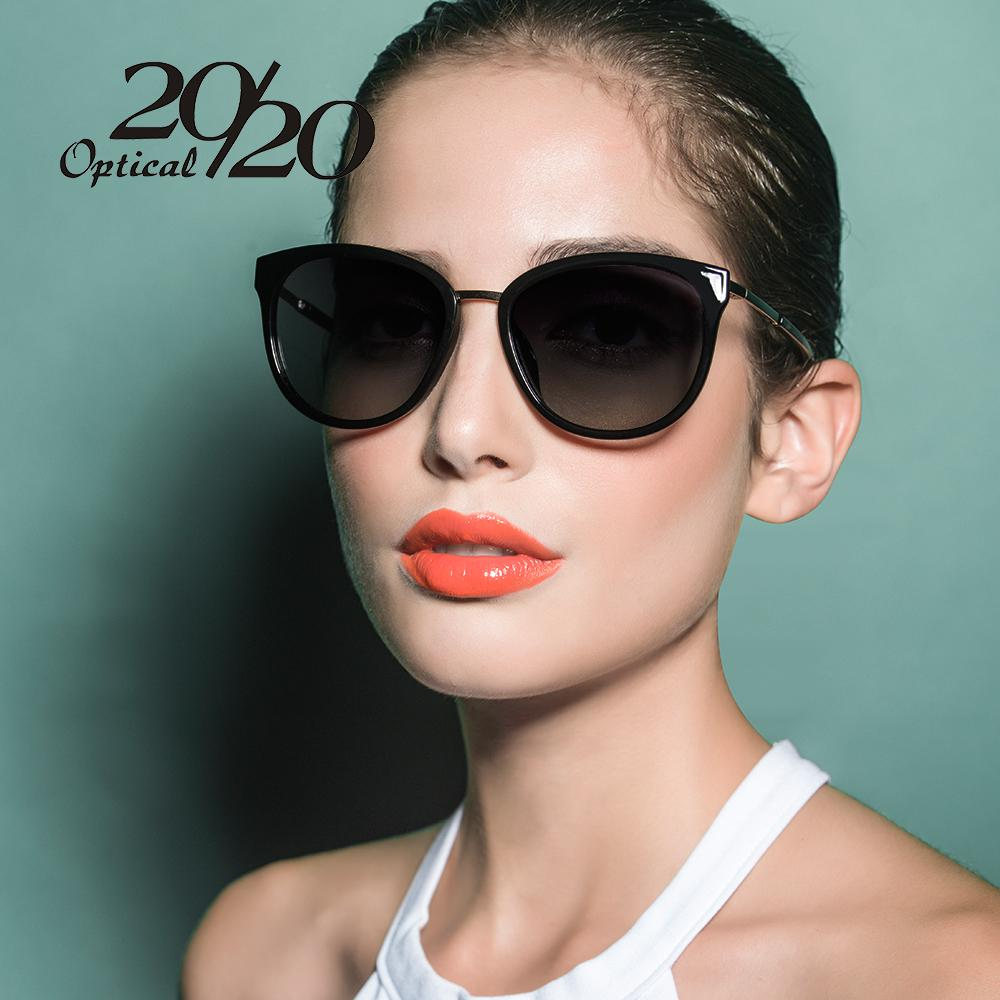 $21.83- 20/20 Polarized Sunglasses Women Retro Style Metal Frame Sun Glasses Famous Lady Brand Designer Oculos Feminino 7051