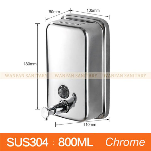 $33.12- Wall Mounted Stainless Steel Bathroom & Kitchen Sink Liquid Soap Dispenser 500Ml Wf18020