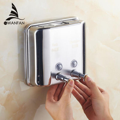 $35.10- Promotion Brush Nickel Soap Dishpenser Square Bathroom Kitchen Soap Dispenser 1500Ml Wf18021