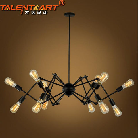 110V 220V Spider Loft Pendant Lights Home Lighting Lamparas De Techo Iluminacion Interior Industrial Lighting 10