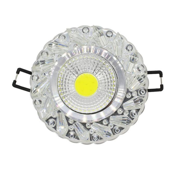 $35.96- 5Pcs/Lot Crystal Cob 3W Led Downlights Recessed Ceiling Spot Light Lamps Embedded Led Downlights Home Decoration Light