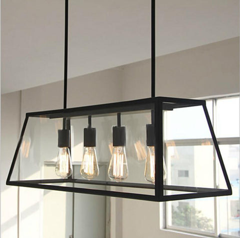 $396.20- Vintage Pendant Light Industrial Edison Lamp American Style Clear Glass Bell Shade Fixture Rh Loft Coffee Bar Restaurant Lights