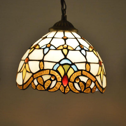 $85.07- Tiffany Pendant Light Stained Glass Lampshade Baroque Style Dining Room Luminaires E27 110240V
