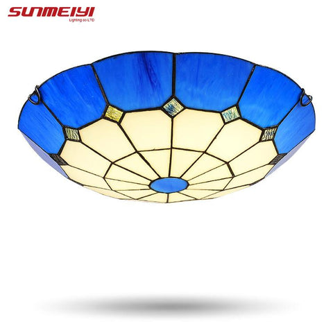 $78.07- Natural Seashell Led Ceiling Light Mediterranean Style Lamp Handmade Seashell Lights Balcony Bedroom Light Balcony