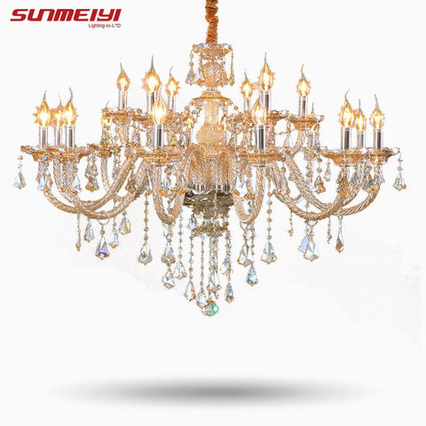 Tiffany Chandeliers Pendant Living Room Lamps Lighting Modern Crystal Chandelier Indoor Lamp Hotel Hall Lights 002
