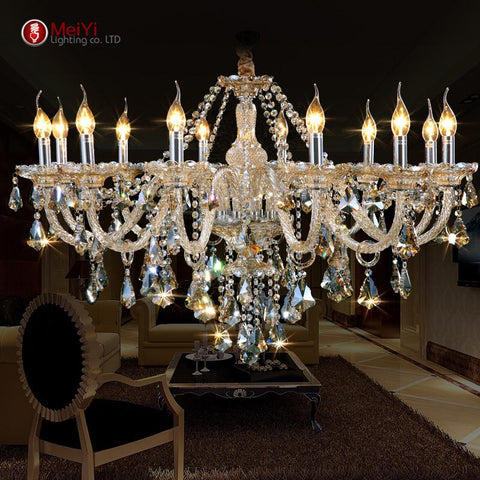 New Luxury Chandeliers Pending K9 Crystal Chandelier Lighting Lamp 12 Lights Hotle Hall Lighting Villa