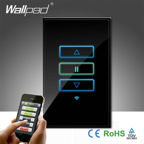 $83.84- Arrival Wallpad Tempered Glass Au Us 120 110~250V Wireless Wifi Remote Dimmer Light Controll Wifi Wall Switch
