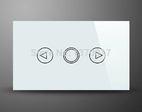 $64.15- White Crystal Glass Au Us Standard Touch Dimmer SwitchLed Indicator Light Dimmer Wall Switches 2 Way Dimmer