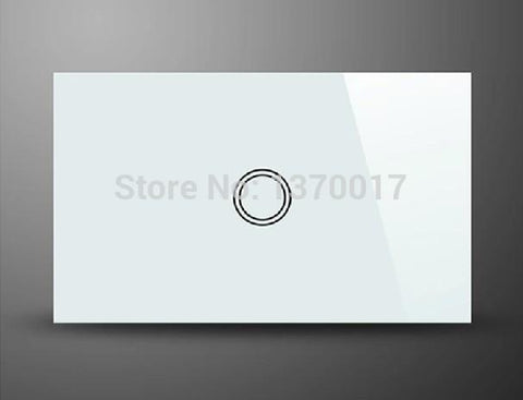 $48.17- Au Us Standard 1 Gang 1 Way Touch Switch Ac 110240V White Crystal Glass Light Wall Switches W/ Led Indicator