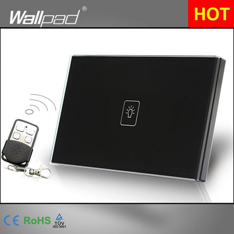 1 Gang 1 Way Us Standard Wallpad White Crystal Light Smart Touch Screen Switch 110V-250V 118*72Mm Switch Shipping