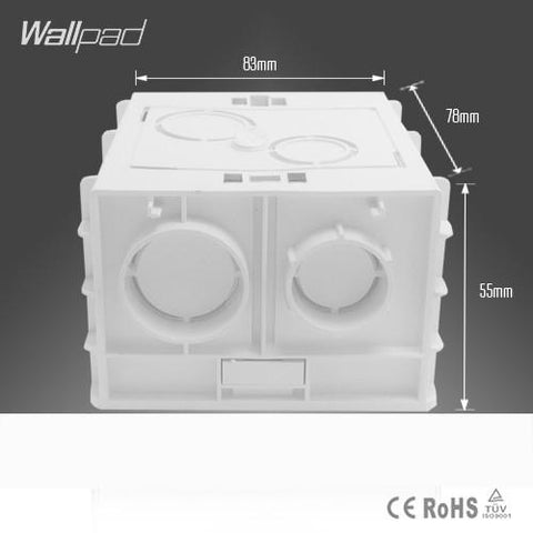 $3.80- Plastic Wall Plate Wall Mount Junction Box Type 86 Switch Cassette Outlet Wall Switch BoxEnclosure Flush Box