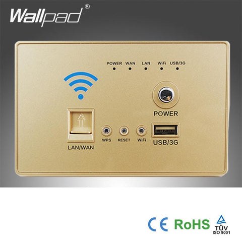 118*72mm US/AU Gold WIFI USB Charging 4G 3G WiFi Socket, USB Socket Wall Embedded Wireless AP Router Repeater Phone Wall Charger